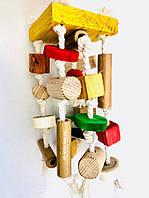 Игрушка для попугаев из натурального дерева, фото 1