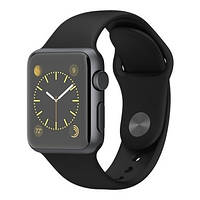 Смарт-часы Apple Watch Sport 38mm Space Gray Aluminum Case with Black Sport Band (MJ2X2)