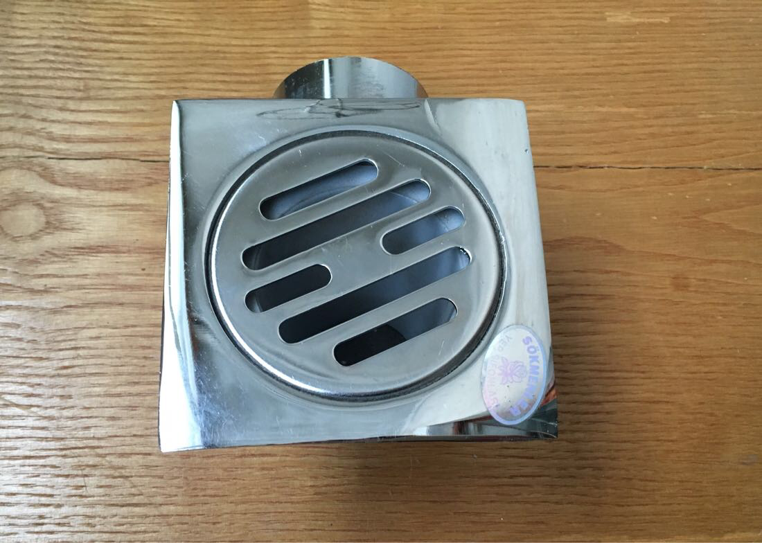 Трап металлический хромированный 10х10 см (50 мм), Турция