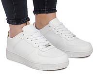 Белые, польские женские кроссовки на платформе, фото 1