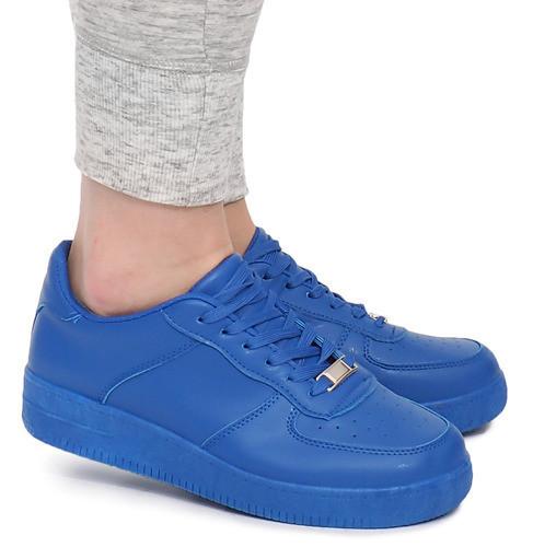 Женские кроссовки на лето, модного синего цвета, фото 1