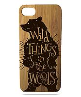 """Дерев'яний чохол  Wooden Cases для Apple iPhone 6/6s з лазерним гравіюванням """"Wild Bear"""""""