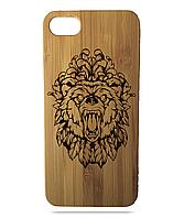 """Дерев'яний чохол  Wooden Cases для Apple iPhone 6/6s з лазерним гравіюванням """"Bear"""""""