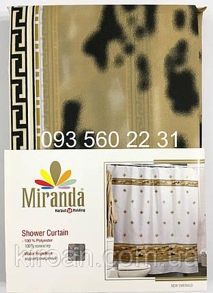 """Тканевая штора для ванной Миранда """"New Emerald"""", фото 2"""