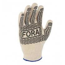 Перчатки DOLONI (15200) Fora робочі білі с  ПВХ кр