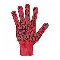 Рукавички DOLONI (4040) червоні трикотажні з звез