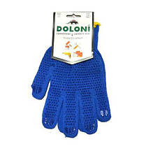 Рукавички DOLONI (4450) трикотажні сині з пвх Уніве