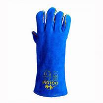 Рукавички DOLONI (4508) краги сині з підкладкою 10