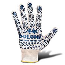 Рукавички DOLONI (520) білі трикотажні з ПВХ (300