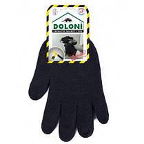 Перчатки DOLONI (540) трикотажные черные двойные б