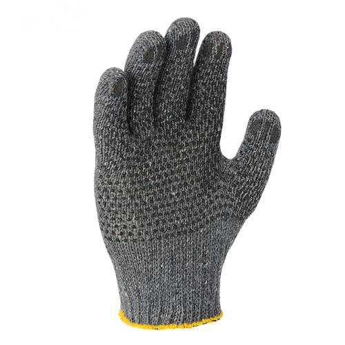 Перчатки DOLONI (608) серые с рисунком ПВХ (300пар