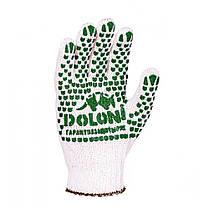 Перчатки DOLONI (547) трикотажные белые с ПВХ  (30