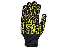 Перчатки DOLONI (562) трикотажные черные со звездо