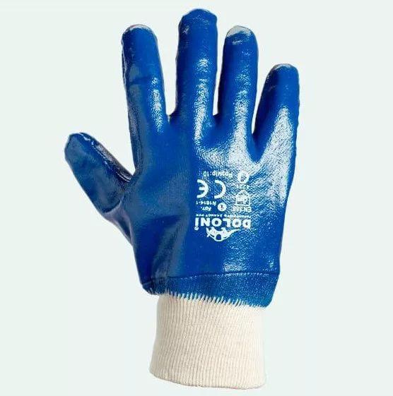 Перчатки DOLONI (850) нитрил с вязаными манжетами