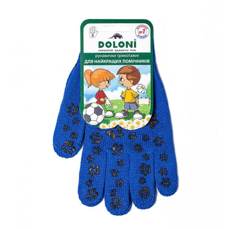 "Перчатки DOLONI (672) трикотажные ""Киттислед"" сини"