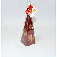 Свеча Рождественская звезда пирамида 240мм S695