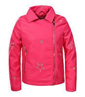Кожаная куртка для девочек Glo-Story, размеры 134/140-170, арт. GPY-5820