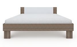 Ліжко з ДСП/МДФ в спальню Martina Z 1,8x2,0 дуб сонома трюфель+білий Blonski