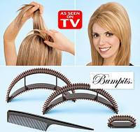 Шпильки для надання об'єму волоссю Bumpits (чорний) / Заколки для придания объема волос Бампит.