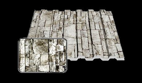 Профільований лист ПС10*950 2,0 м. Print камінь (0,25)
