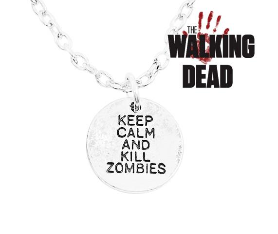 Кулон Ходячие мертвецы Keep calm and kill zombies Walking Dead
