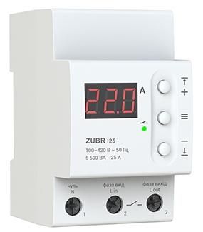 Реле контроля тока ZUBR I25 на DIN–рейку