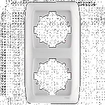 Рамка CARMEN 2-я вертик. бел. Код УКТ ЗЕД 3926909290