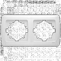 Рамка CARMEN 2-я горизонт. бел. Код УКТ ЗЕД 3926909290