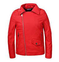 Кожаная куртка для девочек Glo-Story, размеры 134/140-170 , арт. GPY-5835