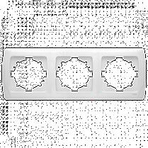 Рамка CARMEN 3-я горизонт. бел. Код УКТ ЗЕД 3926909290