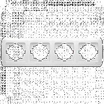 Рамка CARMEN 4-я горизонт. бел. Код УКТ ЗЕД 3926909290