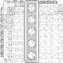 Рамка CARMEN 5-а вертик. бел.