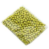 Цукрові намистинки Золоті 3 мм (10 гр.)