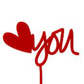 Топпер на торт акрил Love you