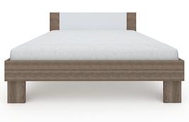 Ліжко з ДСП/МДФ в спальню Martina Z2 1,6x2,0 дуб сонома трюфель+білий Blonski