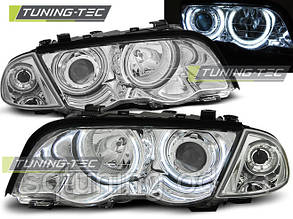 Фары BMW E46 05.98-08.01 S/T ANGEL EYES CHROME