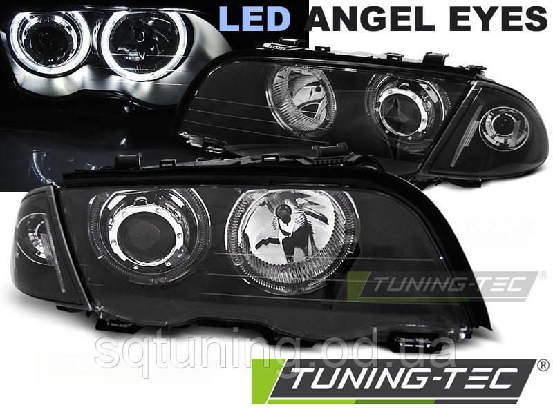 Фары BMW E46 05.98-08.01 S/T ANGEL EYES LED BLACK