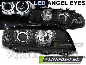 Фары BMW E46 05.98-08.01 S/T ANGEL EYES LED BLACK
