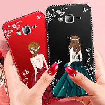 """Samsung A500F А5 2015 оригинальный чехол накладка бампер противоударный с принтом рисунком на телефон * """"MAGW"""