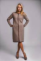 Женское теплое и плотное вязаное пальто