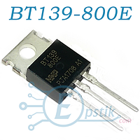 BT139-800E, Симистор 800В 16А, TO220