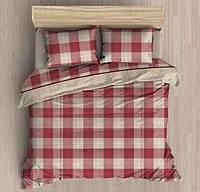 Комплект постельного белья фланель евро размер first choice ekose