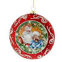 """Игрушка на елку """" Дед мороз и снегурочка """" купить новогодний шар"""