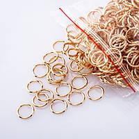 Фурнитура соединительное кольцо d-7mm пачка 15 гр.  цвет золото