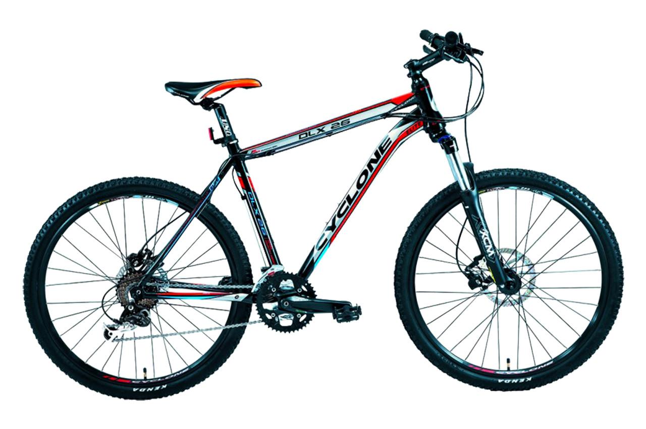"""Горный велосипед CYCLONE DLX 26"""", 19"""", 21""""Черный/Серый"""