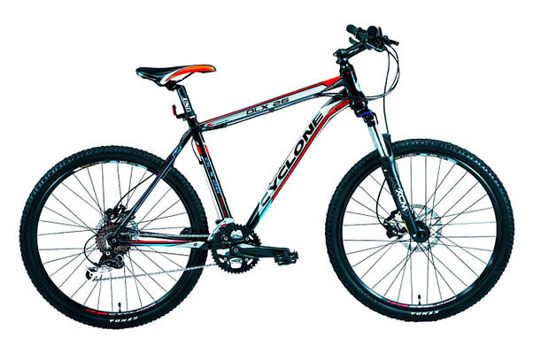 """Горный велосипед CYCLONE DLX 26"""",19""""   Черный/Серый"""