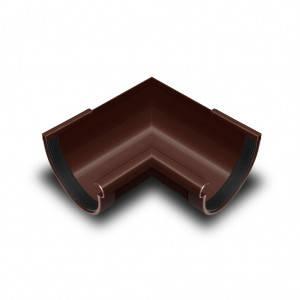 Угол желоба внутренний 90* коричневый 90мм
