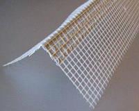 Уголок ПВХ фасадный с сеткой (14см) 7х7 3,0м.