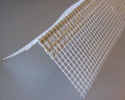 Куточок ПВХ фасадний з сіткою 10х10 2,5 м.