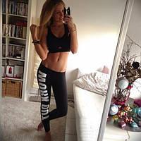 Легінси Work Out для фітнесу, чорні, фото 1